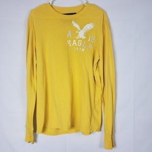 American Eagle Yellow Small Long Sleeve T-Shirt